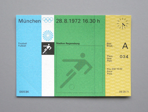 1972 Munich Olympics Tickets 7