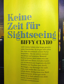 Biffy Clyro feature in <cite>Visions</cite> magazine, No. 249