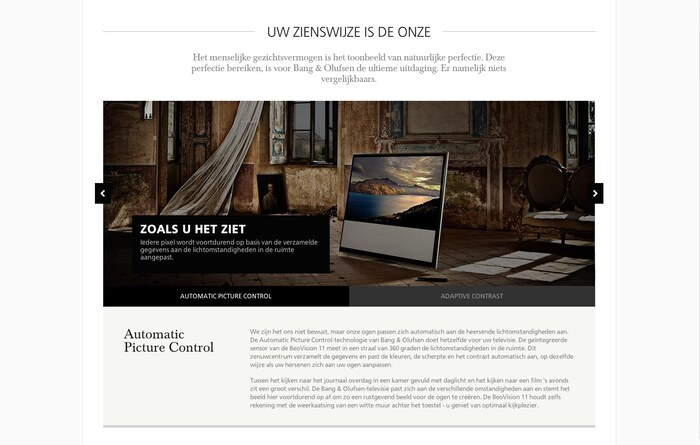 Bang & Olufsen website 2