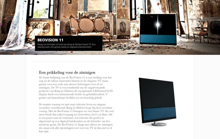 Bang & Olufsen website 4