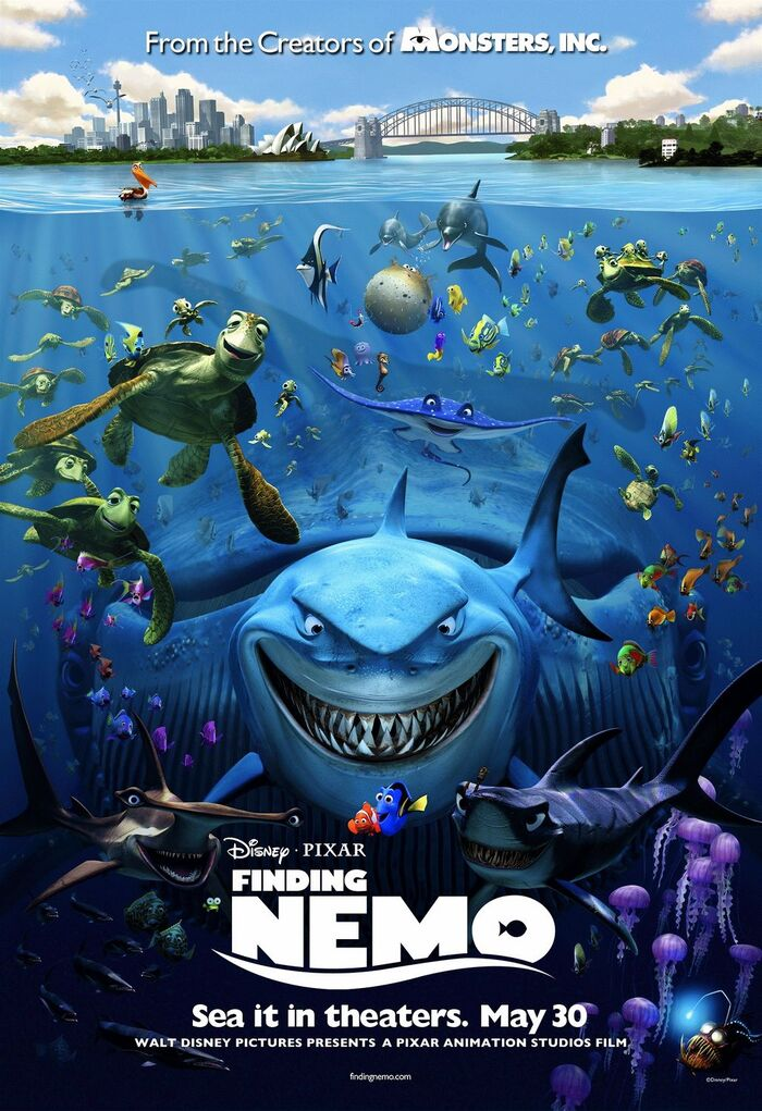Finding Nemo logo and posters 3