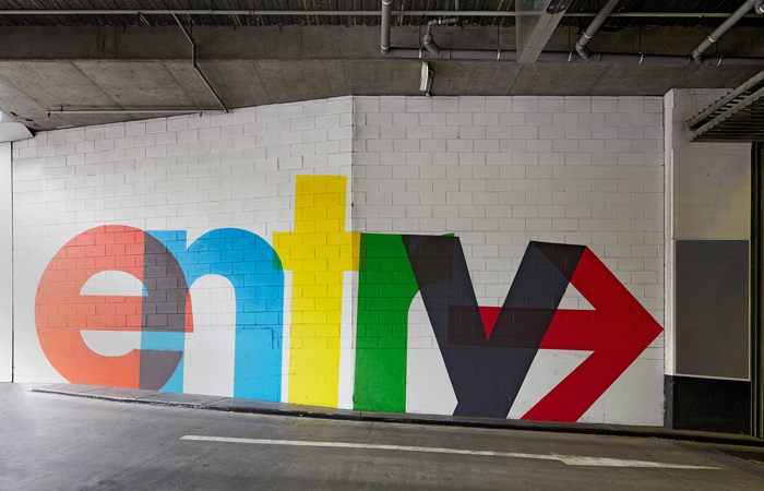 QV Melbourne parking garage signs 2