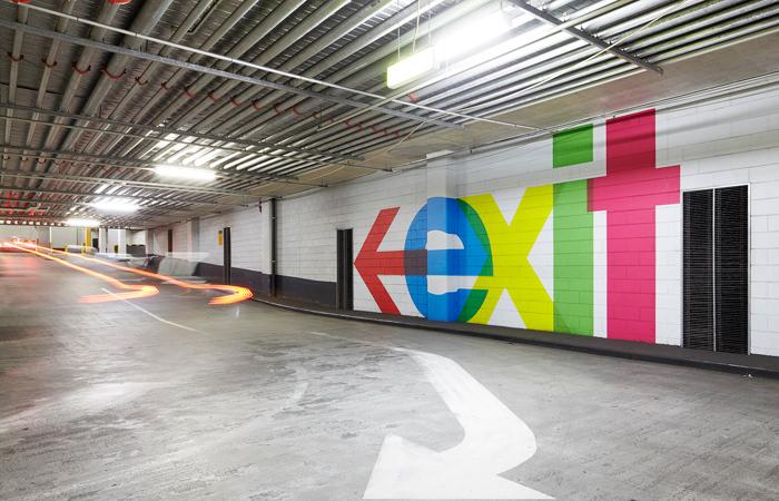QV Melbourne parking garage signs 4