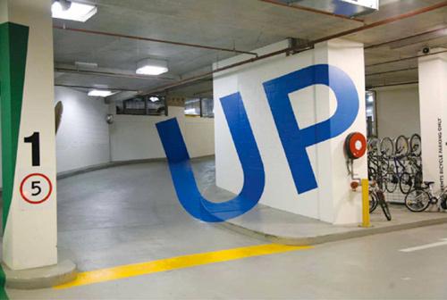 Eureka Tower parking garage signs 2