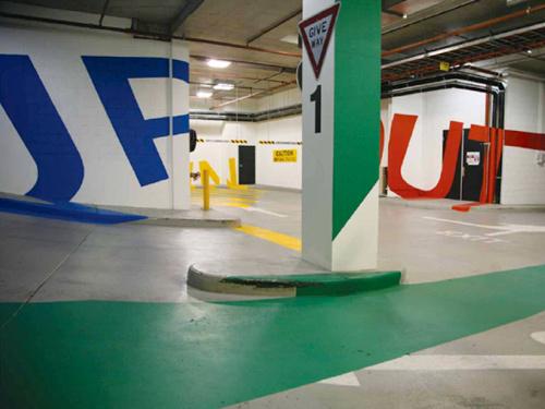 Eureka Tower parking garage signs 5