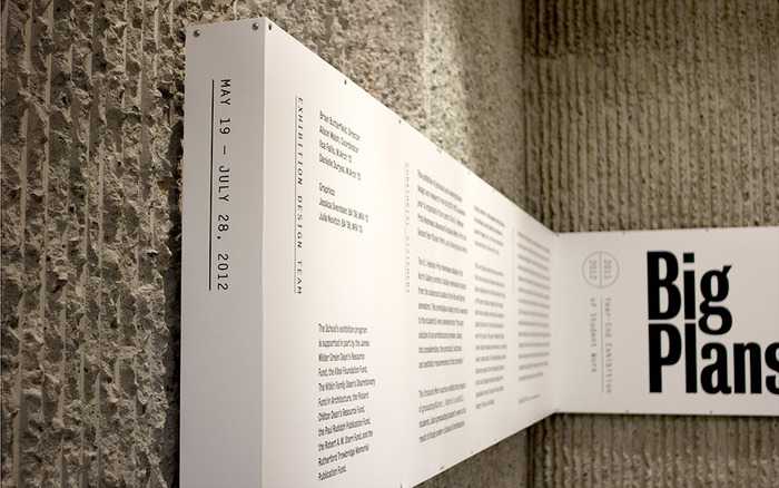 Big Plans exhibition design 2
