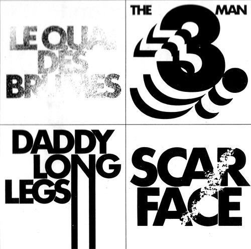 Design: Christof Gassner. Various film titles: Le Quai des brumes (Port of Shadows), The Third Man, Daddy Long Legs, Scarface