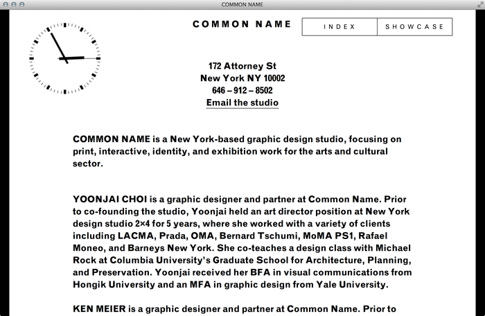 Common Name Website 1