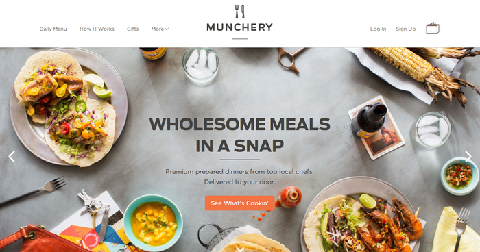 Munchery Website 1