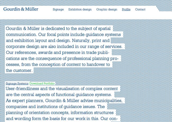 Gourdin & Müller Website 2