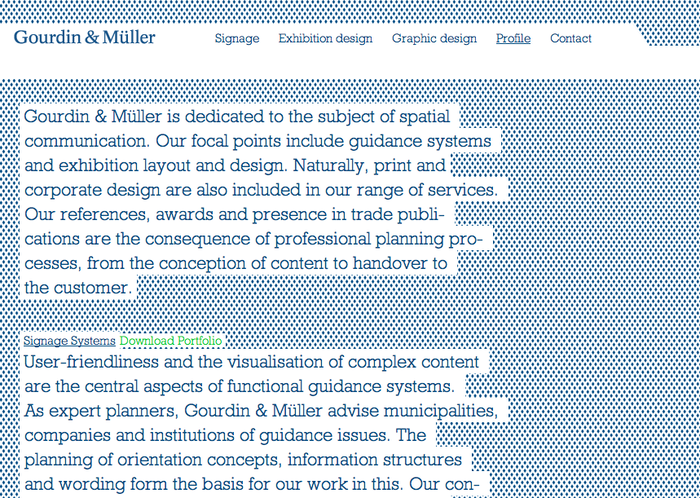 Gourdin & Müller Website 2