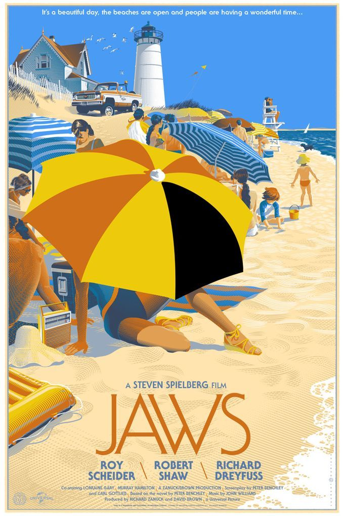 JAWS alternate movie poster 1