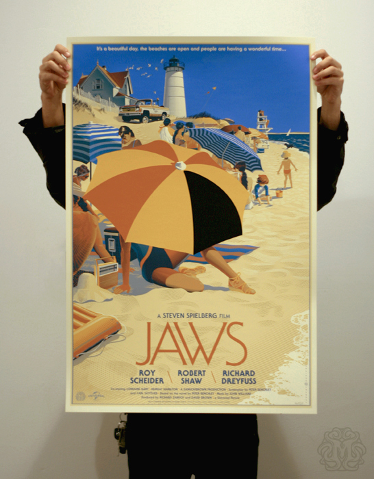JAWS alternate movie poster 3