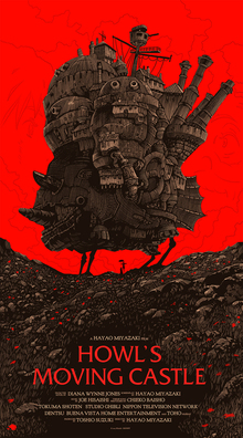 <cite>Howl's Moving Castle</cite> movie poster