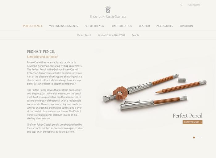 Faber Castell website 1