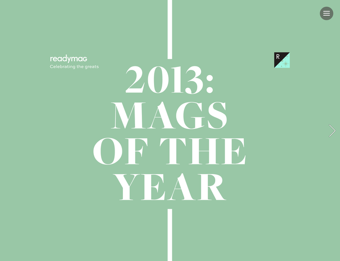 Readymag: 2013 Mags of the Year 2