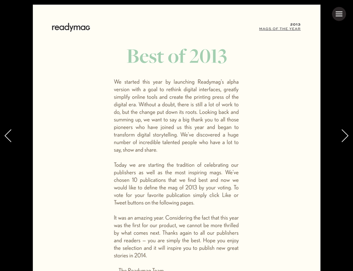 Readymag: 2013 Mags of the Year 5