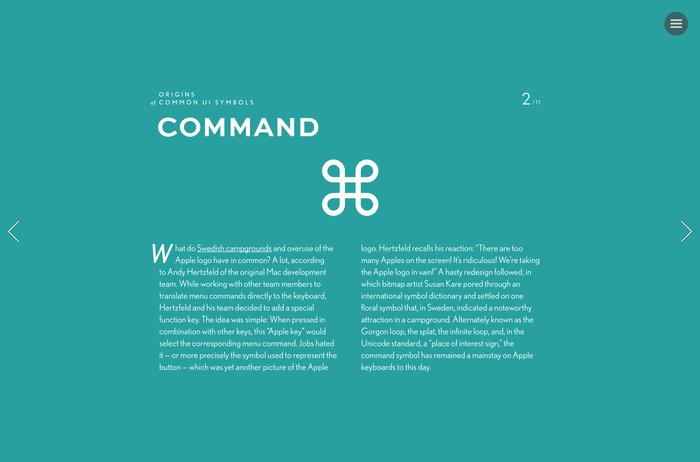 """Origins of Common UI Symbols"", Shuffle Magazine Edition 3"