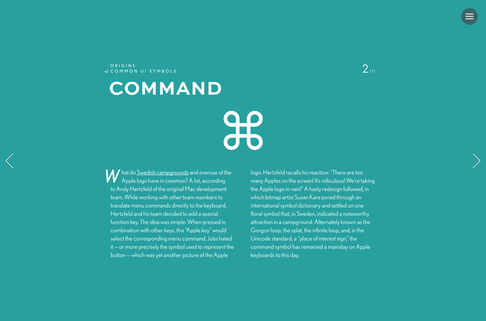 """Origins of Common UI Symbols"", Shuffle Magazine Edition 3"