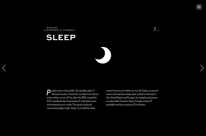 """Origins of Common UI Symbols"", Shuffle Magazine Edition 6"