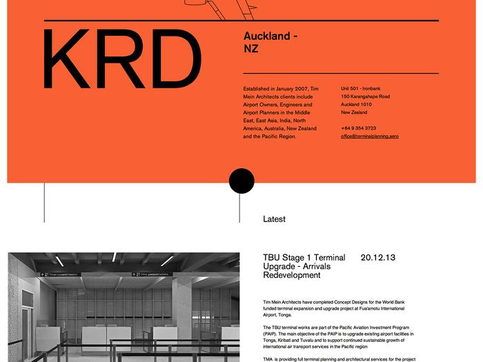 Tim Mein Architects website 2