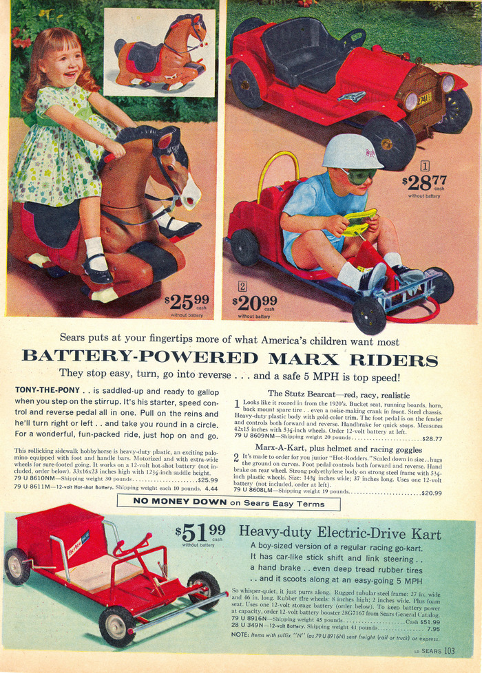 """Battery-powered Marx Riders"""