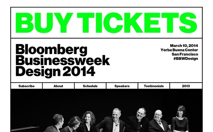 Bloomberg Businessweek Design Conference 2014 website 1