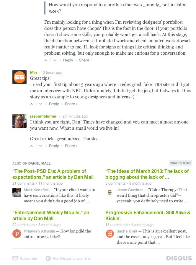 Articles on Daniel Mall's Website 2