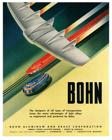 Ads for Bohn Aluminum and Brass Corp, 1945–48