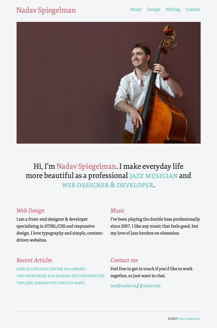 Nadav Spiegelman personal site 2