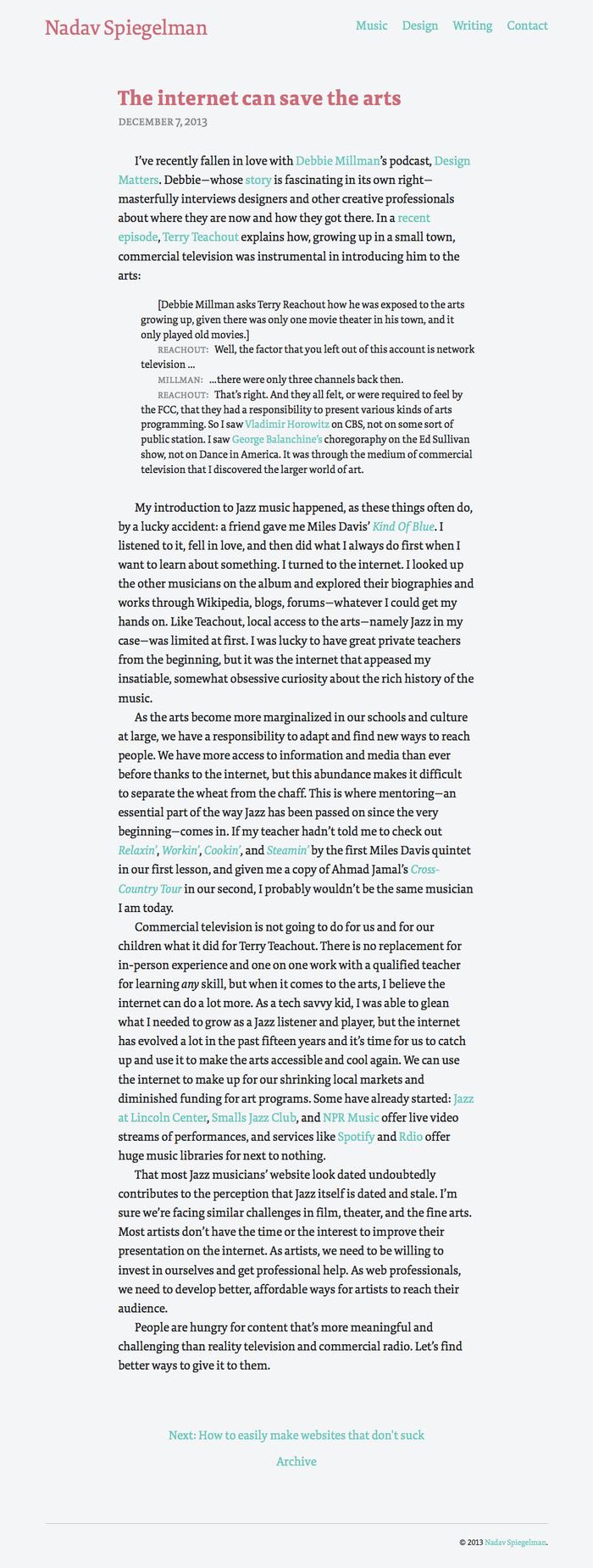 Nadav Spiegelman personal site 3