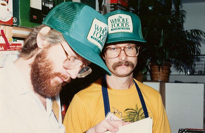 David Matthis and John Mackey for Houston's Shepherd opening, 1984.