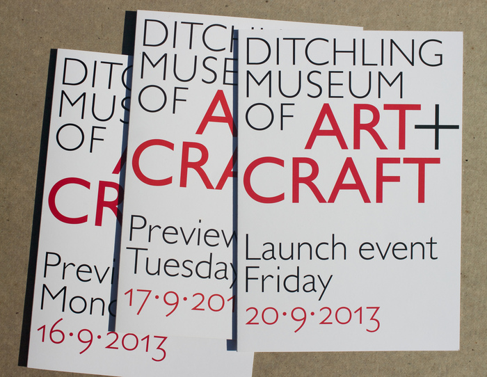 Cards to announce the opening and initial print work for the museum.