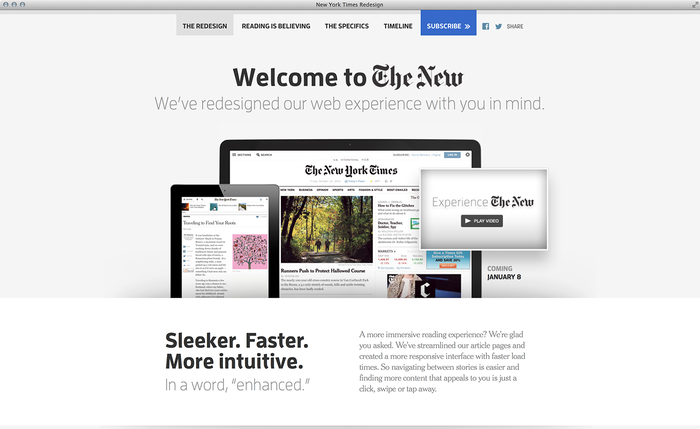 NYTimes.com Redesign Announcement 1