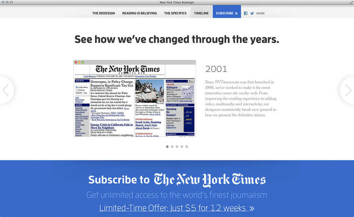 NYTimes.com Redesign Announcement 3