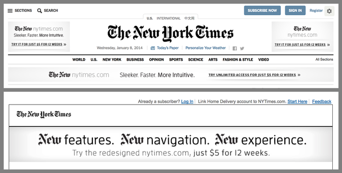 NYTimes.com Redesign Announcement 7