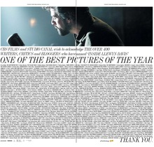 <cite>Inside Llewyn Davis</cite> newspaper ad