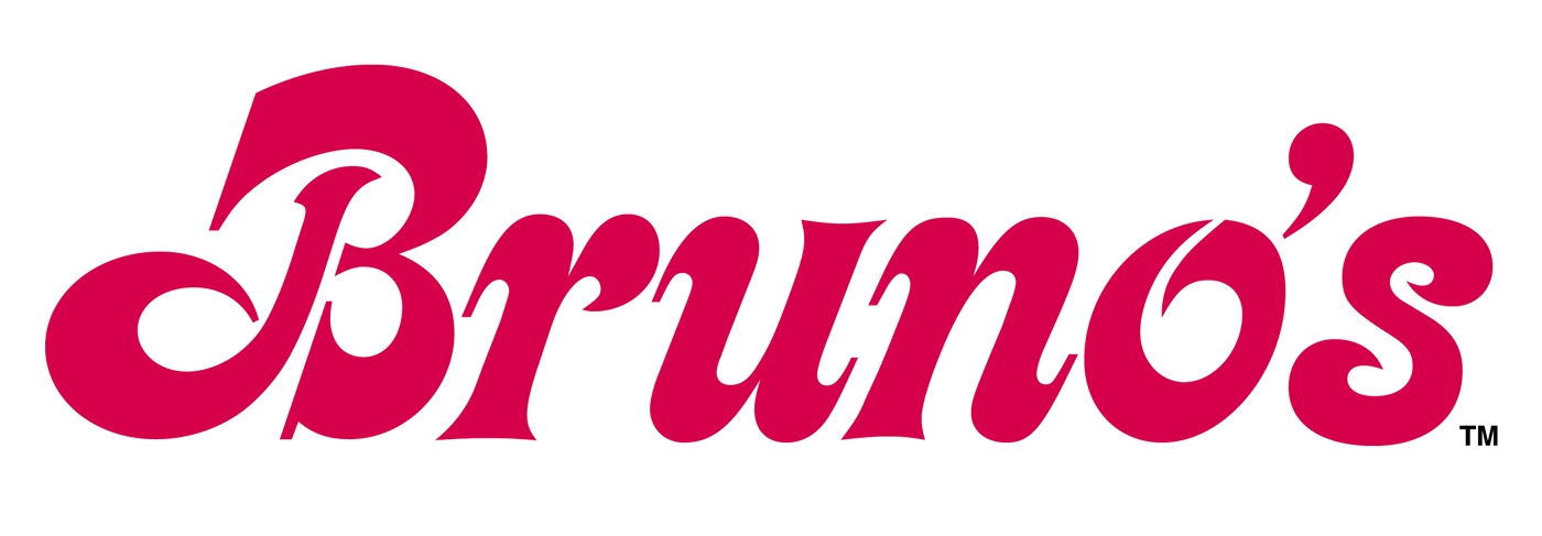 bruno s supermarkets logo fonts in use