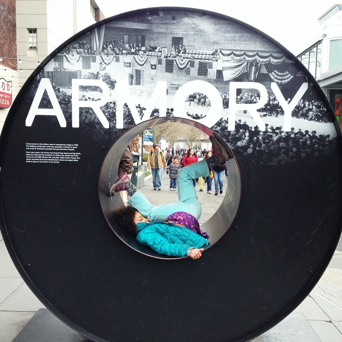 Sign for The Armory at Seattle Center