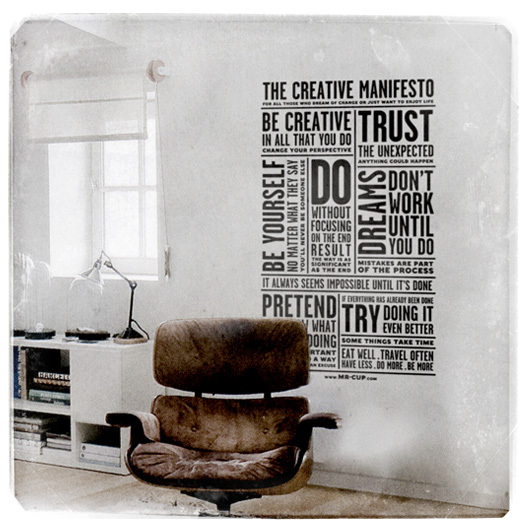 The Creative Manifesto 1