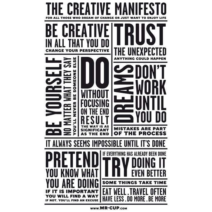 The Creative Manifesto 2