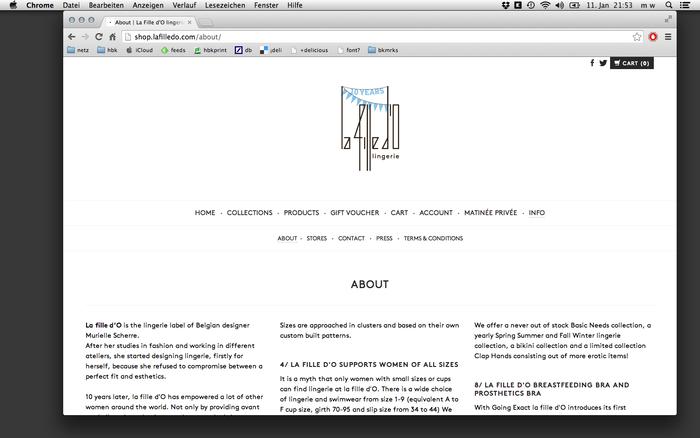 La Fille d'O website 2