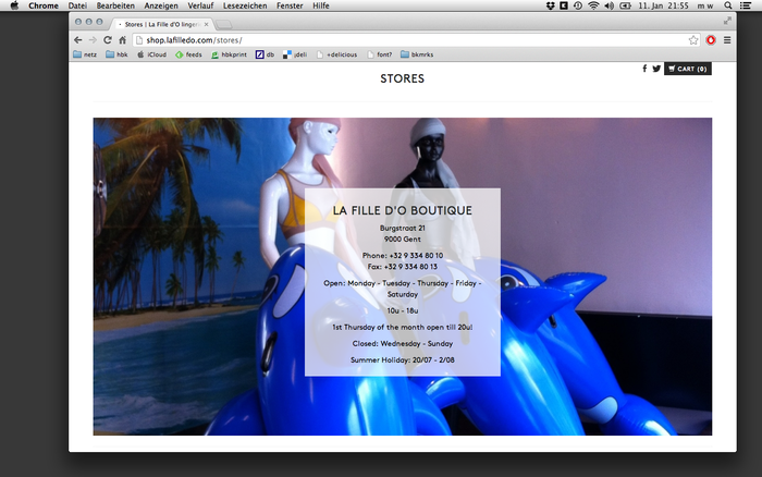La Fille d'O website 3
