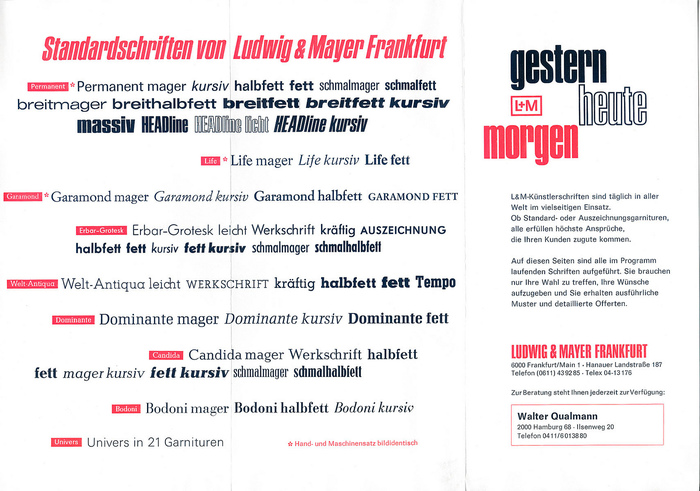 Ludwig & Mayer Brochure 1