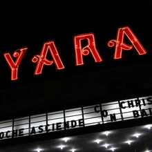 YARA movie theater neon sign