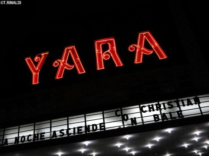 YARA movie theater neon sign 1