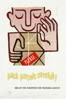 "GPO Poster: ""pack parcels carefully"""
