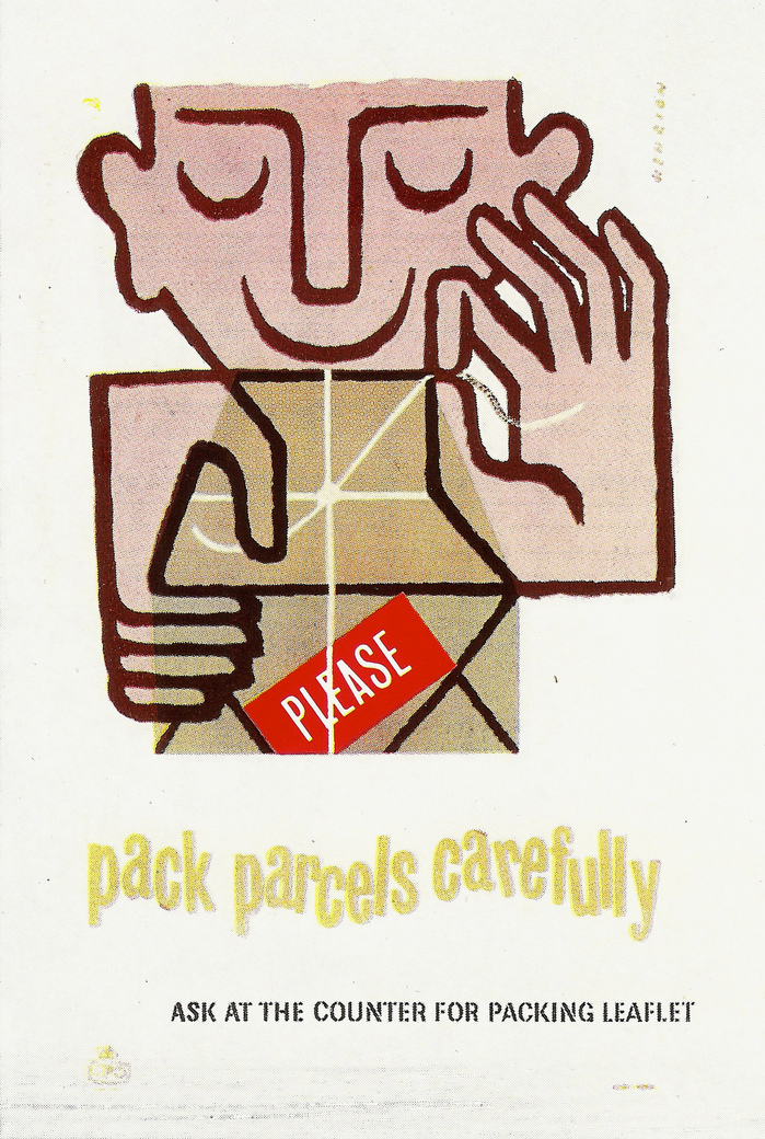 """GPO Poster: """"pack parcels carefully"""""""