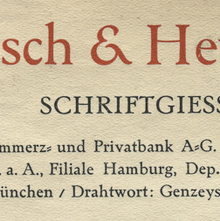 Genzsch & Heyse letterhead, 1931