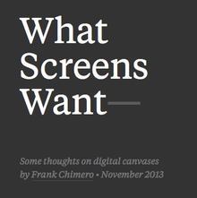 <cite>What Screens Want</cite> webpage